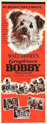 GREYFRIARS BOBBY/SKYE TERRIER original 1961 DISNEY 14x36 insert movie poster