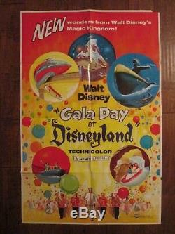 Gala Day At Disneyland Original 1960 Movie Poster Walt Disney