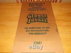 George Of The Jungle-disney-brendan Fraser-vintage Movie Standee/original Box