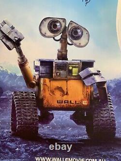 Hand Signed WALL-E Australian One Sheet Movie Poster Walt Disney Pixar animation