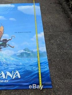 Huge 8x5 Foot 2 Sided Disney/Marvel Moana & Dr Strange Vinyl Movie Poster RARE