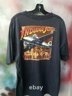 INDIANA JONES THE LEGEND rare 1989 official vintage t-shirt xl Disney 80s