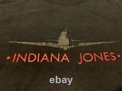 INDIANA JONES rare 1989 official vintage t-shirt X-Large Disney wear 80s