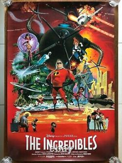 Incredibles One Sheet Movie Poster 27x40 DISNEY PIXAR BRAD BIRD ROBERT MCGINNIS