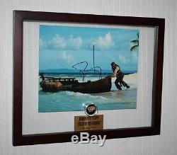 JOHNNY DEPP Signed PIRATES OF CARIBBEAN DISNEY PROP Gold Nugget, COA, DVD, UACC