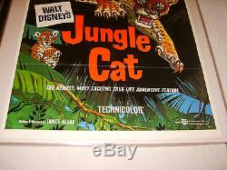 JUNGLE CAT 1960 DISNEY ORIGINAL 27x41 MOVIE POSTER (468)