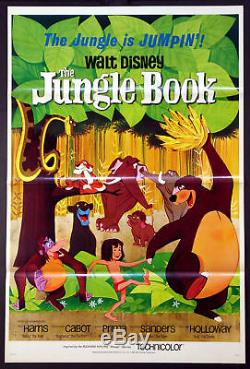 Jungle Book Walt Disney Animation Cartoon 1967 1-sheet Near Mint Tri-folded
