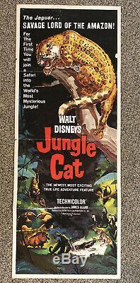 Jungle Cat Original 1959 Walt Disney Movie Poster! (Production Insert) 14x36