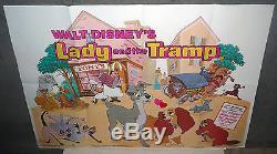 LADY AND THE TRAMP original DISNEY U. K. 30x40 Quad Movie Poster