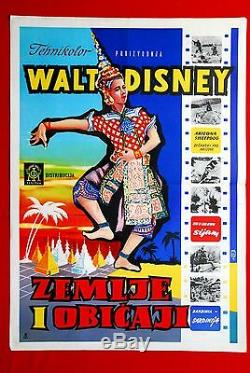 Life Adventures Walt Disney 1956 Rare Exyu Movie Poster