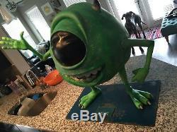 Life Size Disney Pixar Monsters Inc Mike Wazowski Full Size Statue RARE Prop