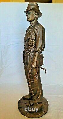 Lucasfilm Faux Bronze Indiana Jones Statue Figure Bust No#ap Disney Not Sideshow