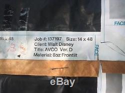 MASSIVE Vinyl Star Wars Movie Banner made for Walt Disney 14'x48' - FIRE SALE