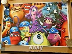 MONSTERS INC Mondo Poster Print By Sara Deck SOLD OUT IN HAND Disney Pixar