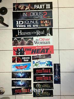 Marvel/Disney/Pixar 45 Total! Movie Theater Poster / Mylar LARGE & Small