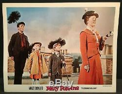 Mary Poppins Original 1964 Movie Lobby Card Disney Musical Chimney Sweeping