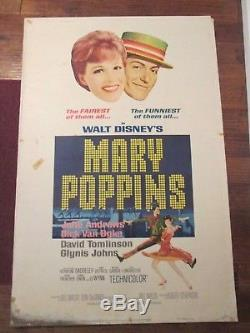 Mary Poppins -Original 40 x 60 Movie Poster Julie Andrews Walt Disney