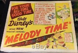 Melody Time!'48 Walt Disney Classic Animated Original 1/2-sheet Film Poster