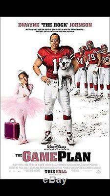 Movie Screen Worn Used Disney The Game Plan #20 Jersey & Pants COA The Rock 2007