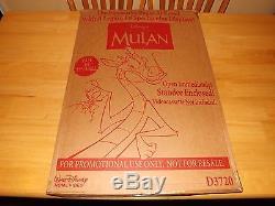 Mulan-walt Disney-animated Cartoon Movie-vintage Movie Standee In Original Box
