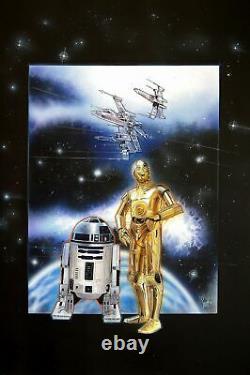 ORIGINAL Artwork Scott Westmoreland STAR WARS C-3PO R2D2 Walt Disney's Painter