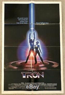 ORIGINAL one sheet movie poster TRON 27x41 1982 WALT DISNEY SCI-FI