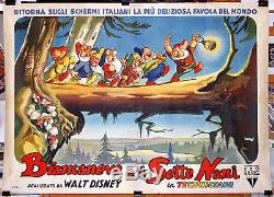 Orig ital movie poster SNOW WHITE AND THE SEVEN DWARFS Walt Disney masterpiece