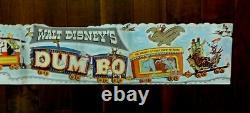 Original 1941 Walt Disney's Movie Dumbo, Festoon Poster. From 1941 Press Kit