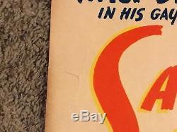 Original 1943 Saludos Amigos Window Card Movie Poster, Disney, 14x22