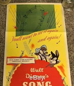 Original 1946 Song of the South Insert Movie Poster, 14x36, Disney, Super Rare