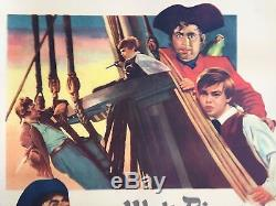 Original 1950 Walt Disney Treasure Island movie poster Linen Backed