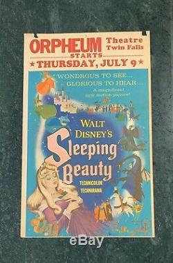Original 1959 Sleeping Beauty Disney Movie Window Card Movie Poster