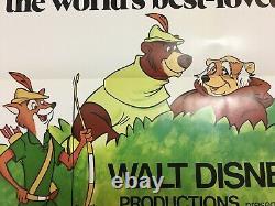 Original 1973 Disney Robin Hood One Sheet Movie Poster 27 X 41