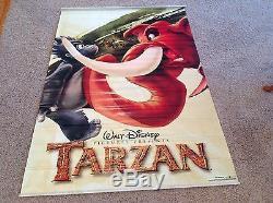 Original 2 Sided Disney's TARZAN 48 X 70 Movie Theater Poster