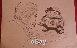Original Art Vintage Disney- Black Hole Old Bob Production Animation Vincent