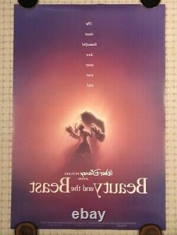 Original Disney BEAUTY AND THE BEAST 1991 DS Adv Theatrical Poster (Numbered)