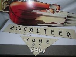 Original Disney ROCKETEER Movie Theater Hanging Wall Standee Display COMPLETE