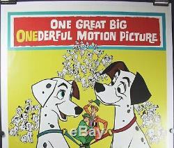 Original U. S. One Sheet Movie Poster Disney 101 Dalmatians 1961