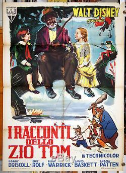 Original italian movie poster SONG OF THE SOUTH Walt Disney masterpiece first ed