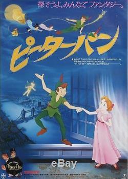 PETER PAN Japanese B2 movie poster R85 DISNEY NM
