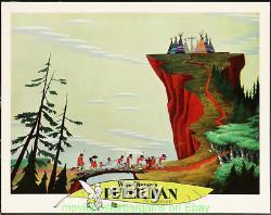 PETER PAN LOBBY CARD Set of 9 DISNEY 11x14 Inch Movie Poster R1978 N. MINT