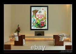 PETER PAN Walt Disney 4x6 ft Vintage French Grande Movie Poster 1965