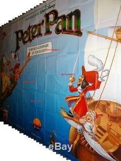 PETER PAN movie poster french BILLBOARD ORIGINAL 8 panels walt disney