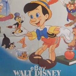 PINOCCHIO Original Movie Poster 40x55 2 Sheet RARE Disney Collodi