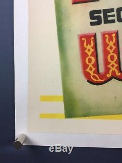 PINOCCHIO Original SPANISH One Sheet Movie Poster 1940 Walt Disney on LINEN