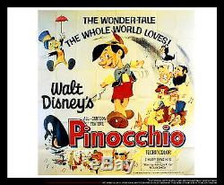 PINOCCHIO Walt Disney 6x6 ft Giant Billboard Original Movie Poster 1940