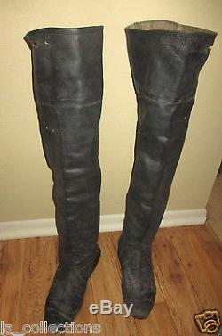 PIRATES OF CARIBBEAN Black HIGH BOOTS Screen Used Production Worn Prop DISNEY