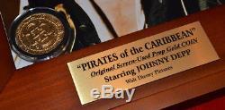 PIRATES OF THE CARIBBEAN Disney Prop, Blu Ray DVD JOHNNY DEPP Signed, DISNEY COA
