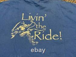PIRATES OF THE CARIBBEAN Disney movie rare stunt crew promo t-shirt Adult Large