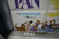 Peter Pan 1969R Disney Animation One Sheet Poster 27x41 Original